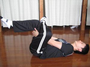 臀部のストレッチ1
